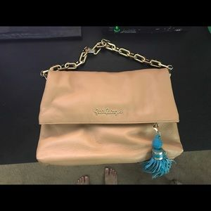 Lilly Pulitzer Worth It Leather Clutch
